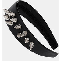 Topshop 'Spike Cluster' Headband Black