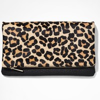 LEOPARD FOLD-OVER CONVERTIBLE CLUTCH