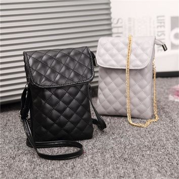 womens pu leather cell phone shoulder bag small crossbody purses pouch lady wallet with 2pcs shoulder strap  number 1
