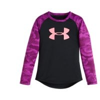 Under Armour Girls' Pre-School UA Night View Big Logo Raglan