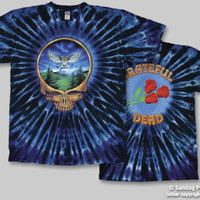 Grateful Dead Steal Your Owl Tie Dye Short Sleeve Shirt Deadhead Hippie