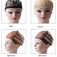 10PCS Lace front wig caps hairnets for making wigs With Adjustable Stretch Lace Strap glueless wig caps