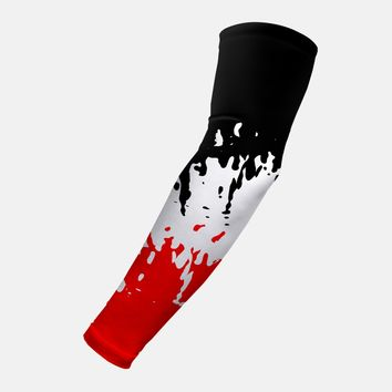 Ripple Black White Red Arm Sleeve