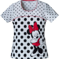 Minnie Mouse Limelight Minnie Scrub Top For Women - Cherokee 6710