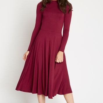 Ellie Mock Neck Midi Dress