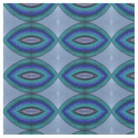 Blue Oval Shapes Pattern Fabric