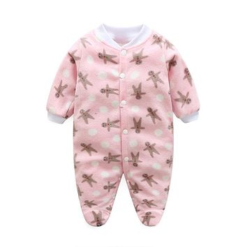 Spring Baby Clothes Fleece Newborn Clothing Infant Baby Rompers Jumpsuit Costume New Born Clothes Girls Boys One-pieces Infant