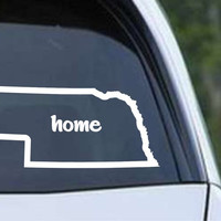 Nebraska Home State Outline NE - USA America Die Cut Vinyl Decal Sticker