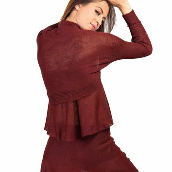 Drape Shrug Knit KrinkleSpun by KD dance New York Made In USA