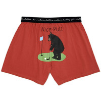 Nice Putt Black Bear Men's Boxers