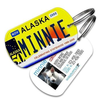 Alaska License Plate Pet Tag