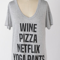 Wine Pizza Netflix Graphic Top