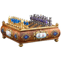 Austro Hungarian Silver Gilt and Enamel Chess Set