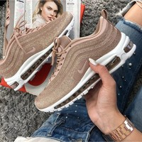 shosouvenir  NIKE AIR MAX 97 Women gold bullets running shoes