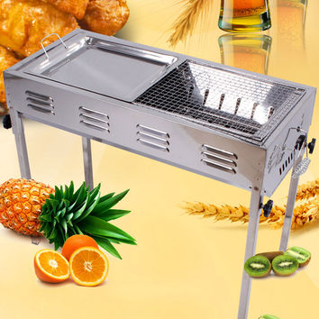 Outdoor Stainless Steel Portable Kebab Grill