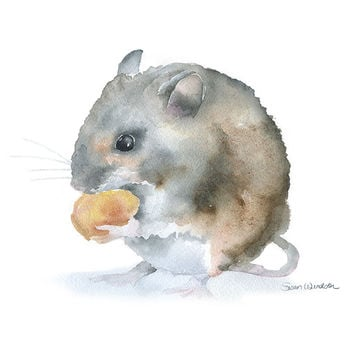 Field Mouse Watercolor