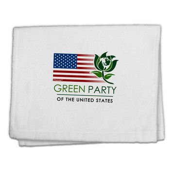 """Green Party US Flag 11""""x18"""" Dish Fingertip Towel"""