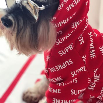 Supreme Pets Shirt Winter Thicken Pet's Apparel [56907694092]