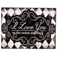 I Love You to the Moon & Back Wood Block | Shop Hobby Lobby