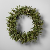 "Artificial Lamb Ear and White Berry Wreath (24"") - Hearth & Hand™ with Magnolia"