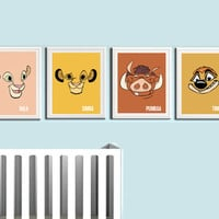 Lion King Nursery Prints 4 Pack from Coliseum Graphics