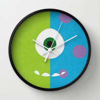 Monsters Inc - Minimalist Poster 02 Wall Clock by Misery