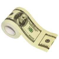 100 DOLLAR BILL TOILET PAPER