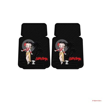Licensed Official New Classic Betty Boop Hawaiian Dress Car Truck Rubber Floor Mats Front / Rear