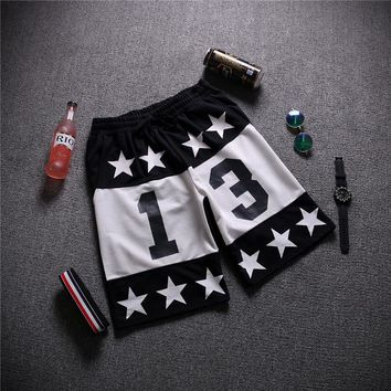 Unisex Hip-hop Casual Beach Pants Summer Shorts [6541234627]