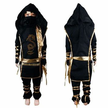 DCCKH6B 2017 fashion Christmas Gifts Boy Cosplay Costume Characters New Fantasia Martial Ninja Grim Reaper Halloween Costume Stage Suits