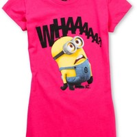 Bitter Sweet Whaaa? Despicable Me Pink Tee Shirt