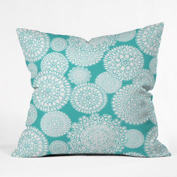 Heather Dutton Delightful Doilies Tiffany Outdoor Throw Pillow