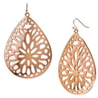 Teardrop Filigree Earrings - Gold