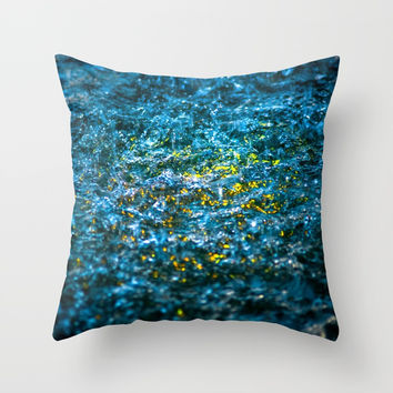 Water Color - Yellow Throw Pillow by Digital2real