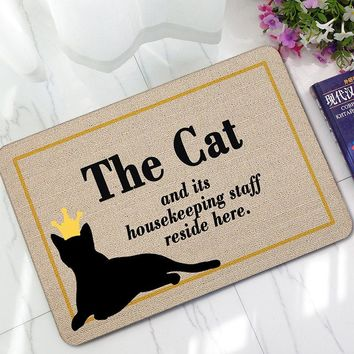 Welcome Home Doormat Rug Entrance Floor Funny Door Mat Bathroom Carpet Anti-Slip Absorbent Rubber Mats Door for Kitchen Toilet