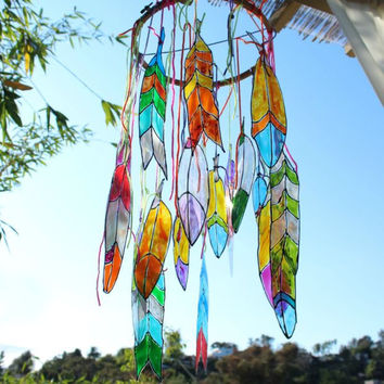 Johnny Loves June- Stained Glass Feathers