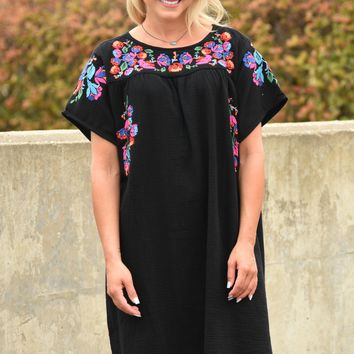 Tequila Sunrise Dress - Black