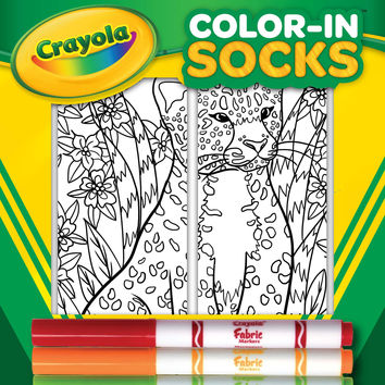 Color-In Socks Leopard