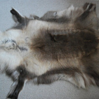 Beautiful Genuine Scandinavian Reindeer Hide in Natural colour