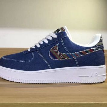 PEAPON Nike Air Force 1 LV8 Deep Blue For Women Men Running Sport Casual Shoes Sneakers