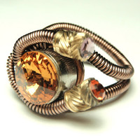 Bullet Casings cyberpunk wire ring  steampunk jewelry by keoops8