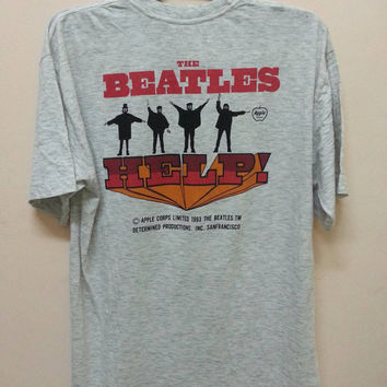 Vintage the beatles shirt/ 1993/ Help/movie soundtrek large size