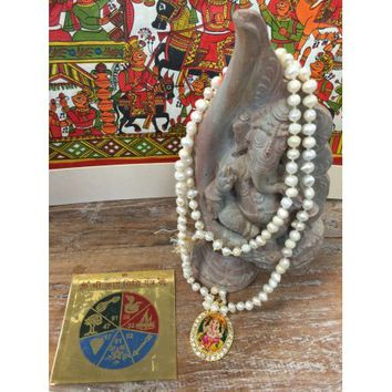 Mogul Accomplishment Altar, Ganesha in Conch Shell , Ganesha 108 Mala, Shree Karya Siddhi Yantra - Walmart.com
