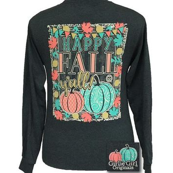 Girlie Girl Originals HAPPY FALL Y'ALL LONGSLEEVE