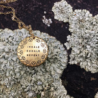 Inhale Exhale Necklace