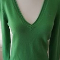 EDC by Esprit green v-neck sweater top size M medium EUC