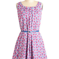 ModCloth Short Sleeveless A-line Sitting Giddy Dress