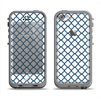 The Navy & White Seamless Morocan Pattern V2 Apple iPhone 5c LifeProof Fre Case Skin Set