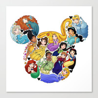 Princess Mickey Ears Canvas Print by Katie Simpson