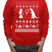 Happy Family Clothing Men's Geeky Ugly Sweater Pullover Sweatshirt